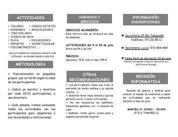 ACTIVIDADES METODOLOGIA OTRAS ... - Infojove