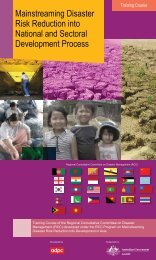 Mainstreaming Disaster Risk Reduction into National ... - INEE Toolkit