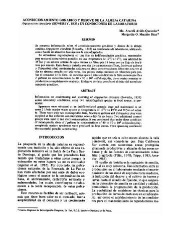 EN CONDICIONES DE LABORATORIO - Inapesca