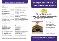 Energy Efficiency in Conservation Areas - Westminster City Council