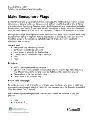 Make Semaphore Flags (Download PDF) - Canadian War Museum