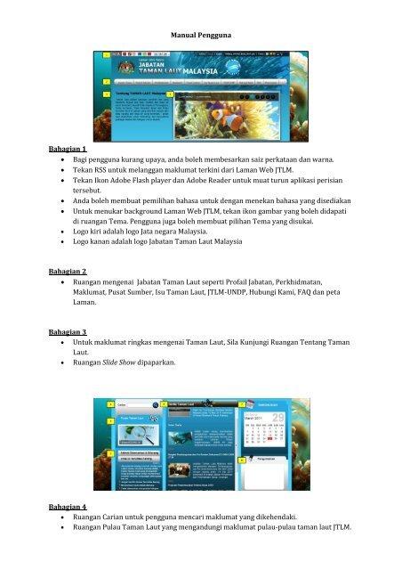 manual panduan pengguna laman web rasmi nahrim