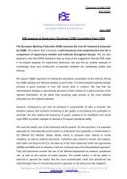 FBE - European Banking Authority