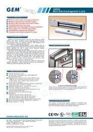 10002 Mini Electromagnetic Lock - Mamut ServiceSuite WebShop