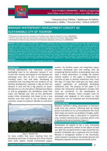 manado waterfront development concept as sustainable city of tourism