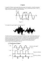 1. Signals 1.1 Classification of Signals