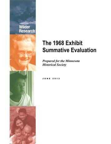 1968 Exhibit Summative Evaluation
