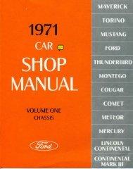 DEMO - 1971 Ford Car Shop Manual - ForelPublishing.com