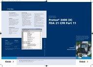 Protos® 3400 (X) FDA 21 CFR Part 11