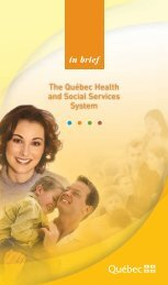 in brief The Québec Health and Social Services System
