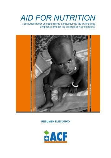 AID FOR NUTRITION - Acción Contra el Hambre