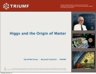 Higgs and the Origin of Matter - Triumf