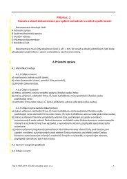 Rozsah a obsah dokumentace pro vydání rozhodnutí o ... - Svitavy