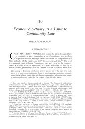 Economic Activity as a Limit to Community Law