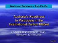 Abatement Solutions – Asia Pacific - Clean Technology Australasia