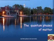 The quantum phases of matter