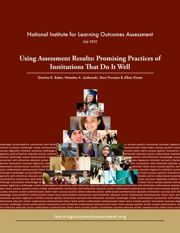 Using Assessment Results - National Institute for Learning ...