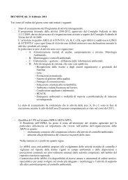 Resoconto riunione Consiglio Federale 21 febbraio 2011 - Arpa