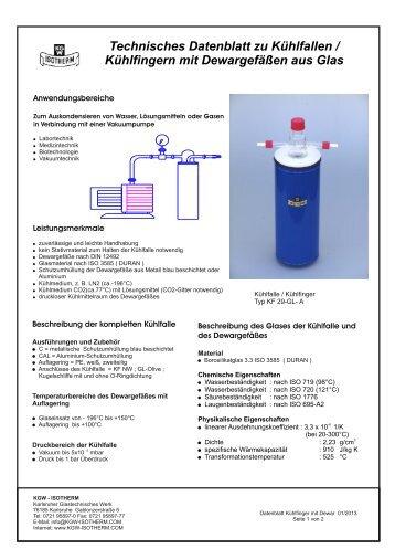 Kühlfinger Typ KF - KGW Isotherm