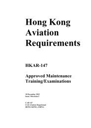 HKAR-147 Approved Maintenance Training/Examinations, Issue 2 ...