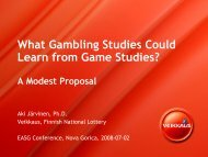 What Gambling Studies Could Learn from Game Studies?