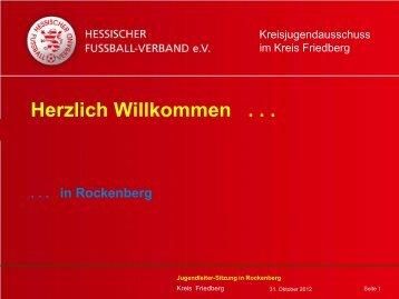 Jugendleiter-Sitzung Wir wollen beginnen - Kreis Friedberg