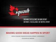 making good ideas happen in sport - World Squash Federation