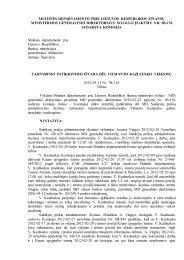 MUITINĖS DEPARTAMENTO - Lietuvos Respublikos muitinė