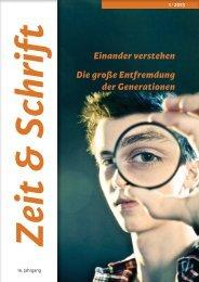 Heft 1/2013 - Zeit & Schrift