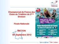 Championnat de France des Clubs de Triathlon de 2ème Division ...