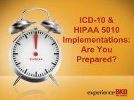 ICD-10 & HIPAA 5010 Implementations - Pennsylvania Association ...