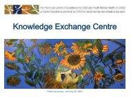 Knowledge Exchange Centre - Children's Mental Health Ontario