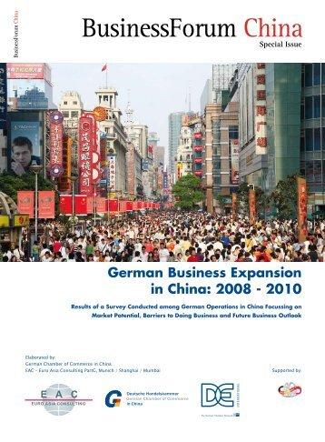 German Business Expansion in China - Kooperation-International