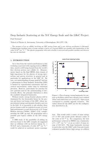Deep Inelastic Scattering at the TeV Energy Scale and the LHeC ...