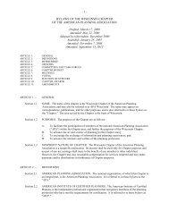 WAPA Bylaws - American Planning Association, Wisconsin Chapter