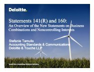 Statements 141(R) and 160: - Deloitte