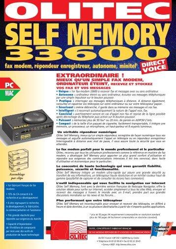 SELF MEMORY 33600 - Olitec