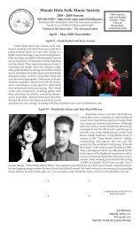 Woods Hole Folk Music Society - Arts on Cape Cod