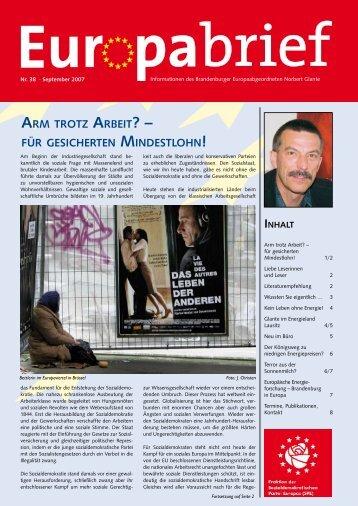 Europabrief September 2007 - Glante, Norbert
