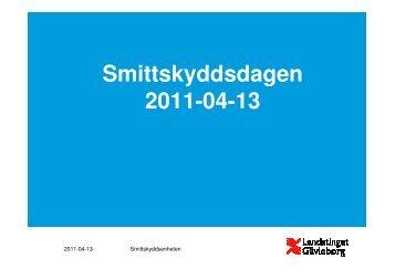 Smittskyddsdagen - Landstinget Gävleborg