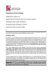 Department of Art & Design - University of the West of England