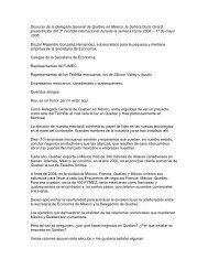 Discurso de la Delegada General de Québec en México, la Señora ...