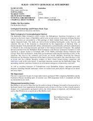 sligo - county geological site report - Geological Survey of Ireland