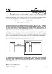 Compliance of Series/Parallel Protections for Telecom CO. - SMD ...