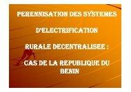 Présentation du Bénin - RIAED