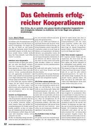 Das Geheimnis erfolg- reicher Kooperationen