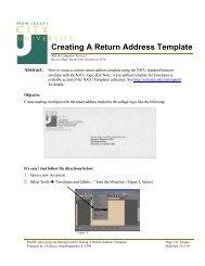 Creating A Return Address Template - New Jersey City University