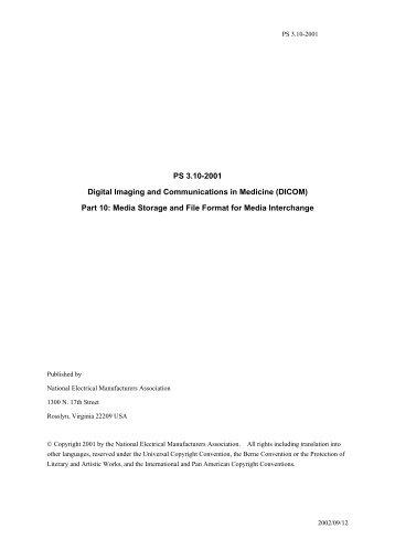 PS3.10−2001翻訳 医療におけるデジタル画像と通信(DICOM) 巻10 ...