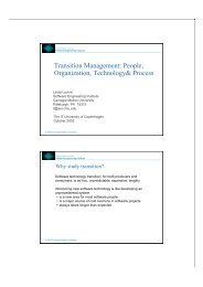 Transition Management: People, Organization, Technology& Process