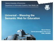 Universal – Weaving the Semantic Web for Education